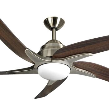 "Fantasia Viper Plus 54"" Ceiling Fan - Antique Brass - Dark Oak Blades & 2 x 60W G9 Halogen"