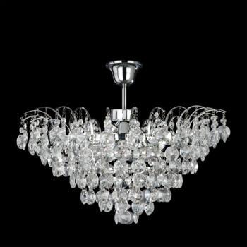 Limoges Chandelier - 3 Light Crystal 9070-48CC - Chrome Finish
