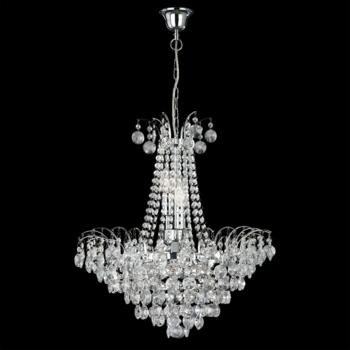 Limoges Chandelier - 6 Light Crystal 9071-52CC - Chrome Finish