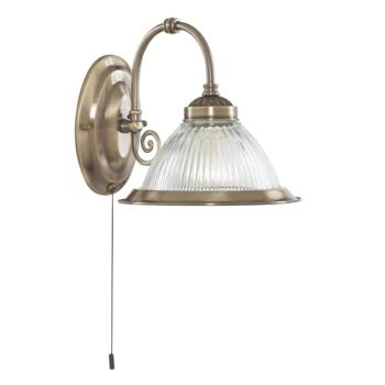 Wall Light - Antique Brass American Diner 9341-1  - Antique Brass