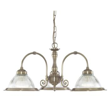 American Diner Ceiling Light - Ant Brass 9343-3 - Antique Brass