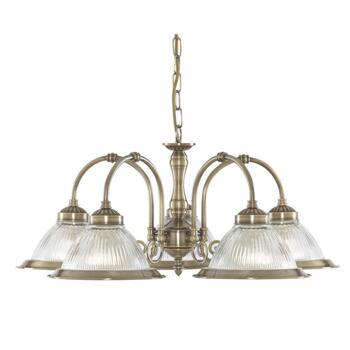 American Diner Ceiling Light - Ant Brass 9345-5 - Antique Brass