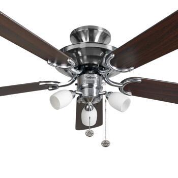 "Fantasia Mayfair Combi Ceiling Fan - Stainless Steel - 42"" (1070mm)"