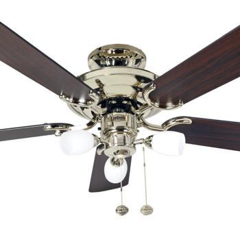 """Fantasia Mayfair Combi Ceiling Fan - Polished Brass - 42"""" - 115502"""