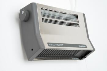 Bathroom Fan Heater   Consort 2kW Stainless Steel   2KW With Thermostat Stainless  Steel