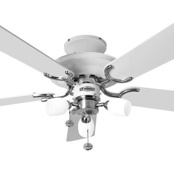 "Fantasia Mayfair Combi Ceiling Fan - White & Stainless Steel - 42"" - 110009"