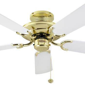 "Fantasia Mayfair Ceiling Fan - Pol/Brass & White - 42"" (1070mm)"