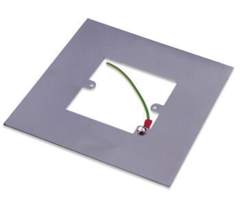 Polished Chrome Single Light Switch Fingerplate - 809C Socket Surround