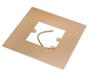 Polished Brass Single Light Switch Fingerplate - 809B Socket Surround
