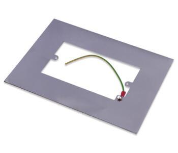 Polished Chrome Double Light Switch Fingerplate - 810C Socket Surround