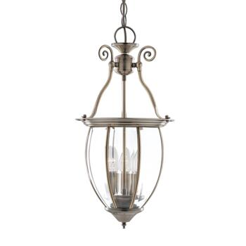 Hall Lantern - Solid Antique Brass 9501-3 3 Light - Antique Brass