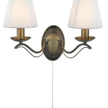 Andretti Wall Light - 2 Light 9822-2AB - Antique Brass