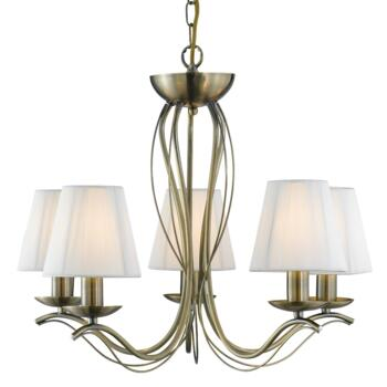 Andretti Ceiling Light - 5 Light 9825-5AB - Antique Brass