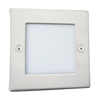 LED Recessed Light - Wall or Floor Light 9907WH - White and Stainless Steel