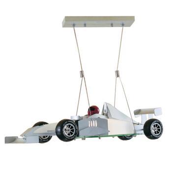 Monaco F1 Racing Car  Light - Novelty Pendant F1 - Satin Silver Finish