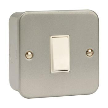 Metal Clad 2 Way Single Light Switch - Metal Clad