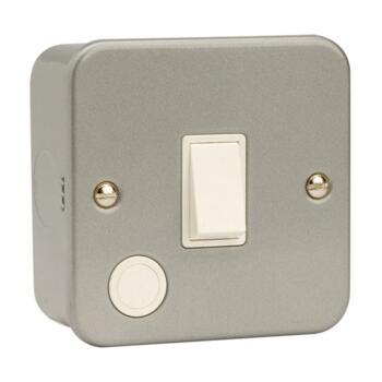 Metal Clad 20A DP Switch - Flex Out  - Metal Clad