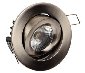 LED Fire-Rated Tilt Downlight 8w/10w - Brushed Nickel - 8w
