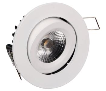 LED Fire-Rated Tilt Downlight 8w/10w - White - 8w