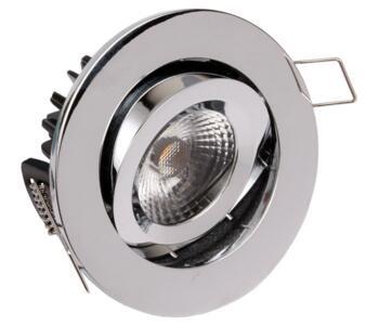 LED Fire-Rated Tilt Downlight 8w/10w - Chrome - 10w