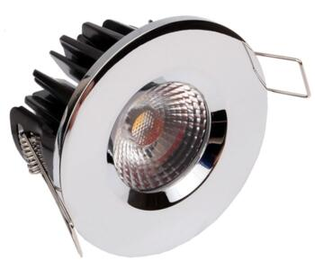 LED Fire-Rated Fixed Downlight 8w/10w - Chrome - 10w