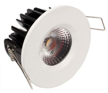 LED IP65 Fixed Shower / Bath Downlight - White - 8w