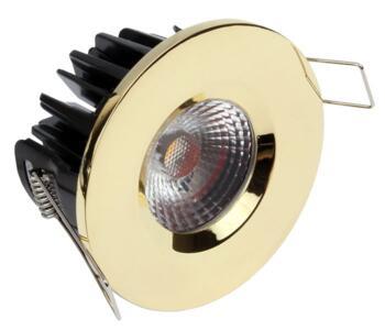 LED IP65 Fixed Shower / Bath Downlight 8w/10w - Brass - 10w
