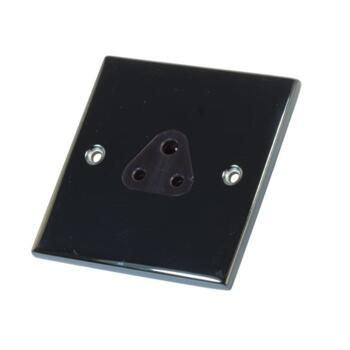 Slimline Black Nickel 5A Lighting Socket  - 2a Unswitched