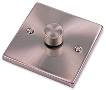 Satin Chrome Dimmer Switch  - 1 x 400w 2 Way