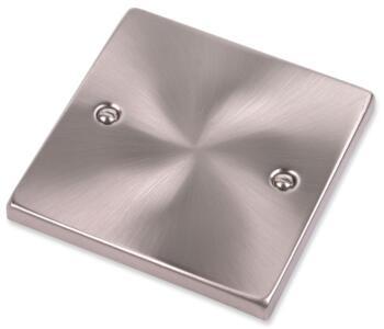 Satin Chrome Blank Plate  - Single 1 Gang
