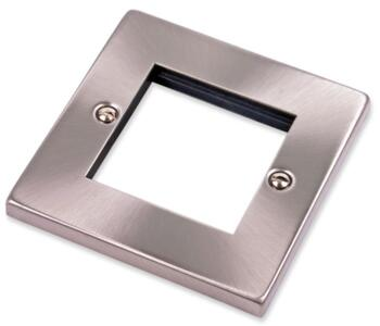 1 Gang Plate with Twin Aperture - 2 Module Plate - Satin Chrome