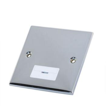 Slimline 13A Unswitched Fused Spur - P/Chrome - With White Interior