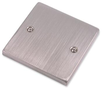 Stainless Steel Blank Plate - 1 Gang Single