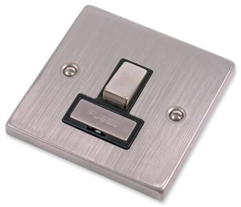 Stainless Steel Fused Spur Black Insert - Switched