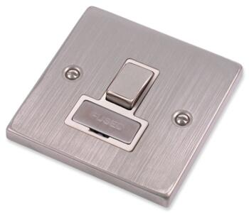 Stainless Steel Switched Spur White Insert - Switched