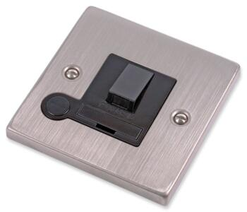 Stainless Steel Fused Spur - Black Insert - Switched
