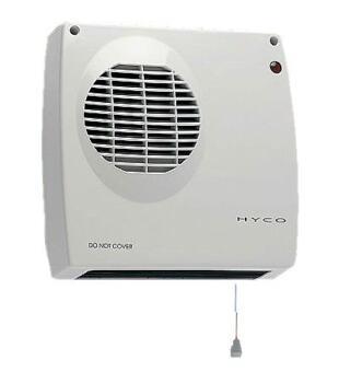 Bathroom Fan Heater - 2kW Overhead Blow Heater - White Bathroom Heater