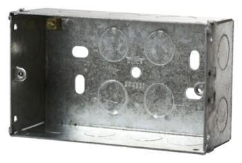 47mm Double Metal Backbox - Double Backbox