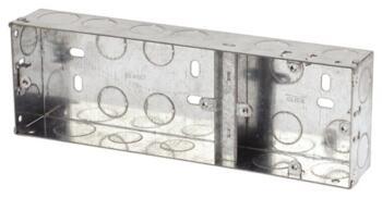 35mm 1 + 2 Dual Accessory Metal Backbox - Dual Backbox