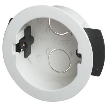 34mm Round Ceiling Plasterboard Backbox - Single Backbox