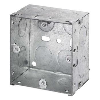 47mm Single Metal Backbox - Single Backbox