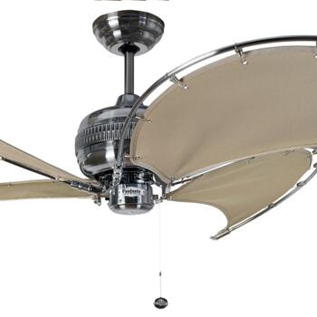 "Fantasia Spinnaker 40"" Ceiling Fan - Stainless Steel/Stone - 114765"