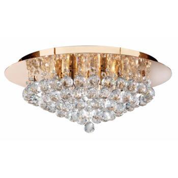 Hanna Ceiling Light - 6 Light Flush 3406-6GO - Gold Finish