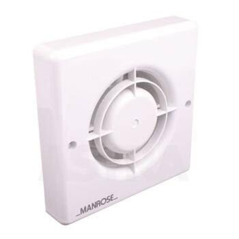 """Quiet Bathroom Extractor Fan with Timer - 100mm (4"""") QF100T - With Timer"""