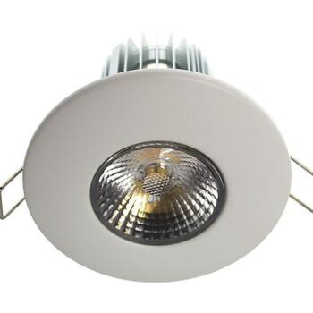 10w LED Fire-Rated Downlight - Matt White - Warm White LED 600Lm