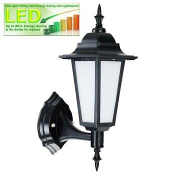 LED Outdoor Lantern - Carrick - Black 500Lm