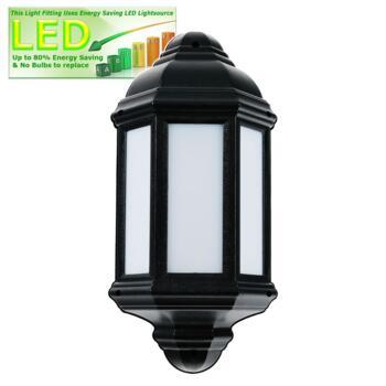 LED Outdoor Lantern - Argyll - Black 500Lm