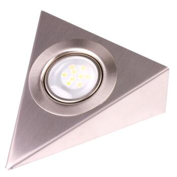 LED Triangle Undershelf Downlight - Stainless Steel - Individual Fitting 1.8w