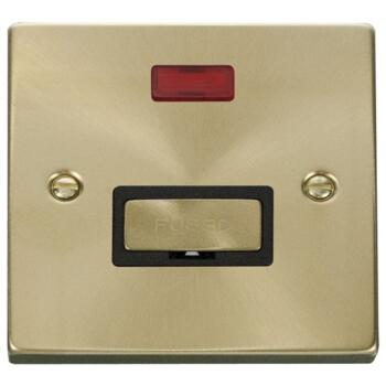 Satin Brass Unswitched Fused Spur & Neon Ingot - With Black Interior