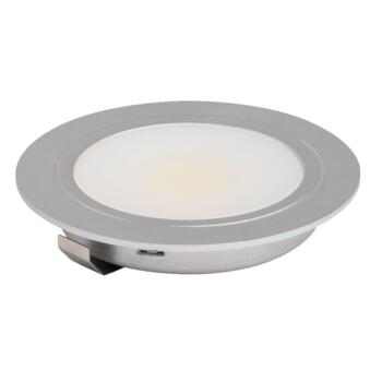 Cabinet LED COB Downlight - 3W 12V - Recessed downlight - warm white - stainless steel